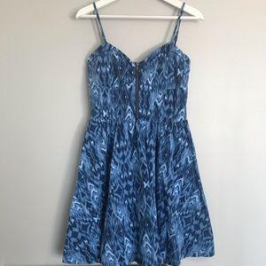 Aeropostale Blue Print Dress 💙🖤